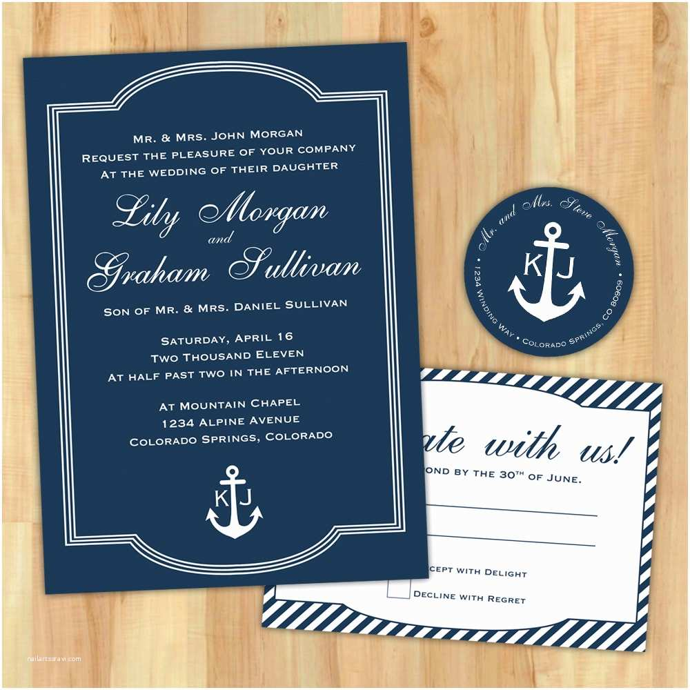 Nautical themed Wedding Invitations Free Bridal Shower Invitations Printable Nautical theme