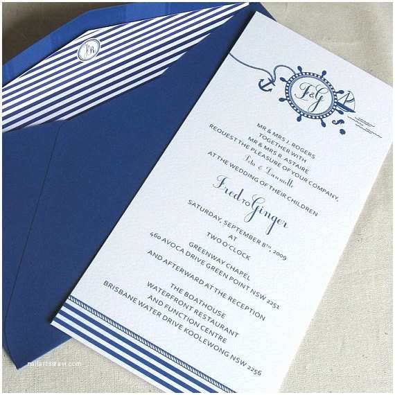 Nautical themed Wedding Invitations Items Similar to Nautical Collection Wedding Invitation