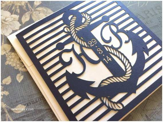 Nautical themed Wedding Invitations Laser Cut Wedding Invitations Nautical themed Wedding