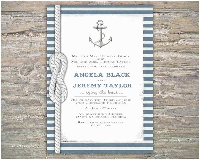 Nautical themed Wedding Invitations Nautical Invitation Diy Printable Invite for Wedding