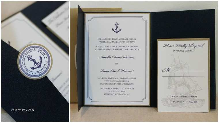 Nautical themed Wedding Invitations Nautical theme Wedding Invitation