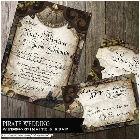 Nautical themed Wedding Invitations Nautical Wedding Invitation Pirate Wedding Invitation