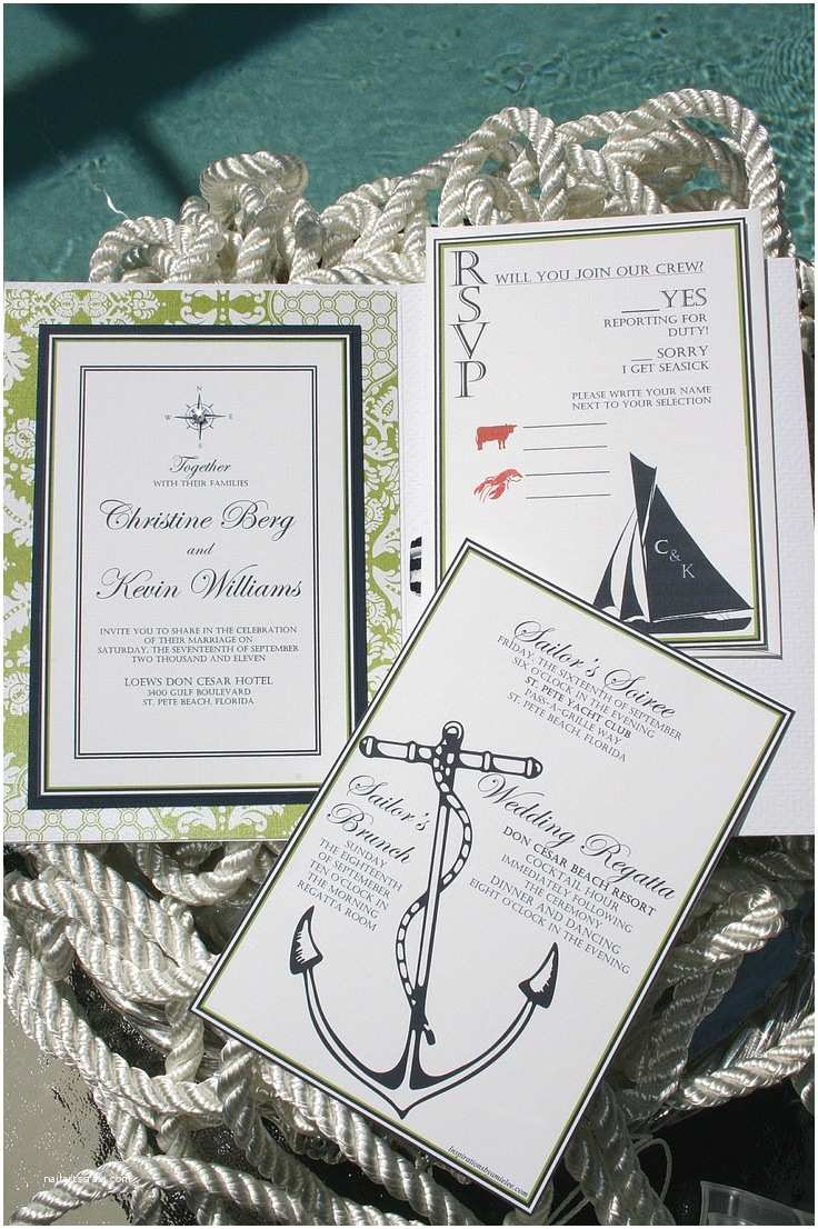 Nautical themed Wedding Invitations Nautical Wedding Invitations Tying the Knot
