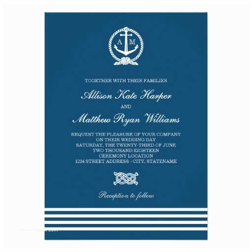Nautical themed Wedding Invitations Wedding Invitations Nautical Stripes theme