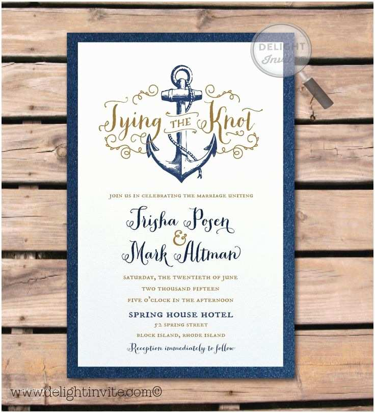 Nautical Wedding Invitations Best 25 Nautical Wedding Invitations Ideas On Pinterest