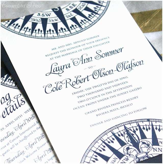 Nautical Wedding Invitations Featured Wedding Invitation Design Nautical Pass by