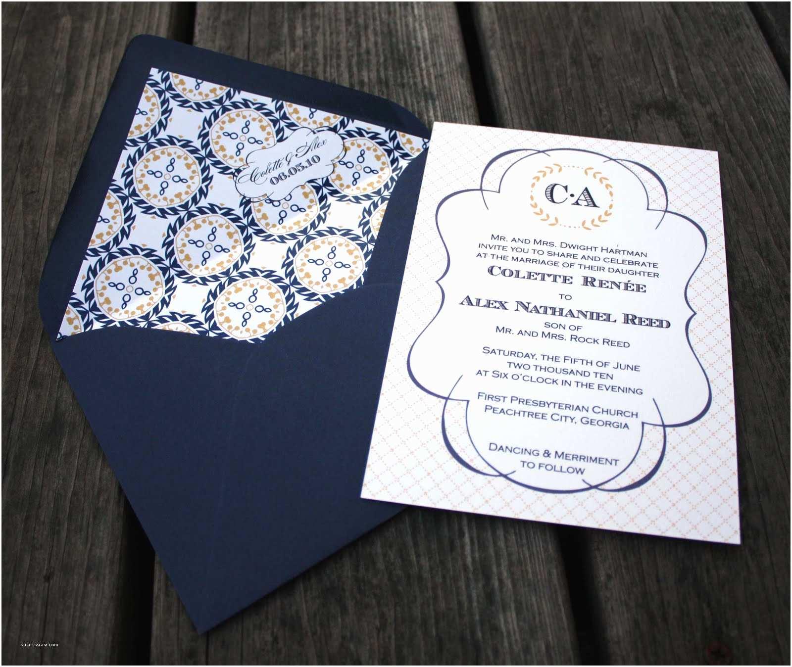 Nautical Wedding Invitations Monogram Wedding Invitations Nautical Wedding Invitations