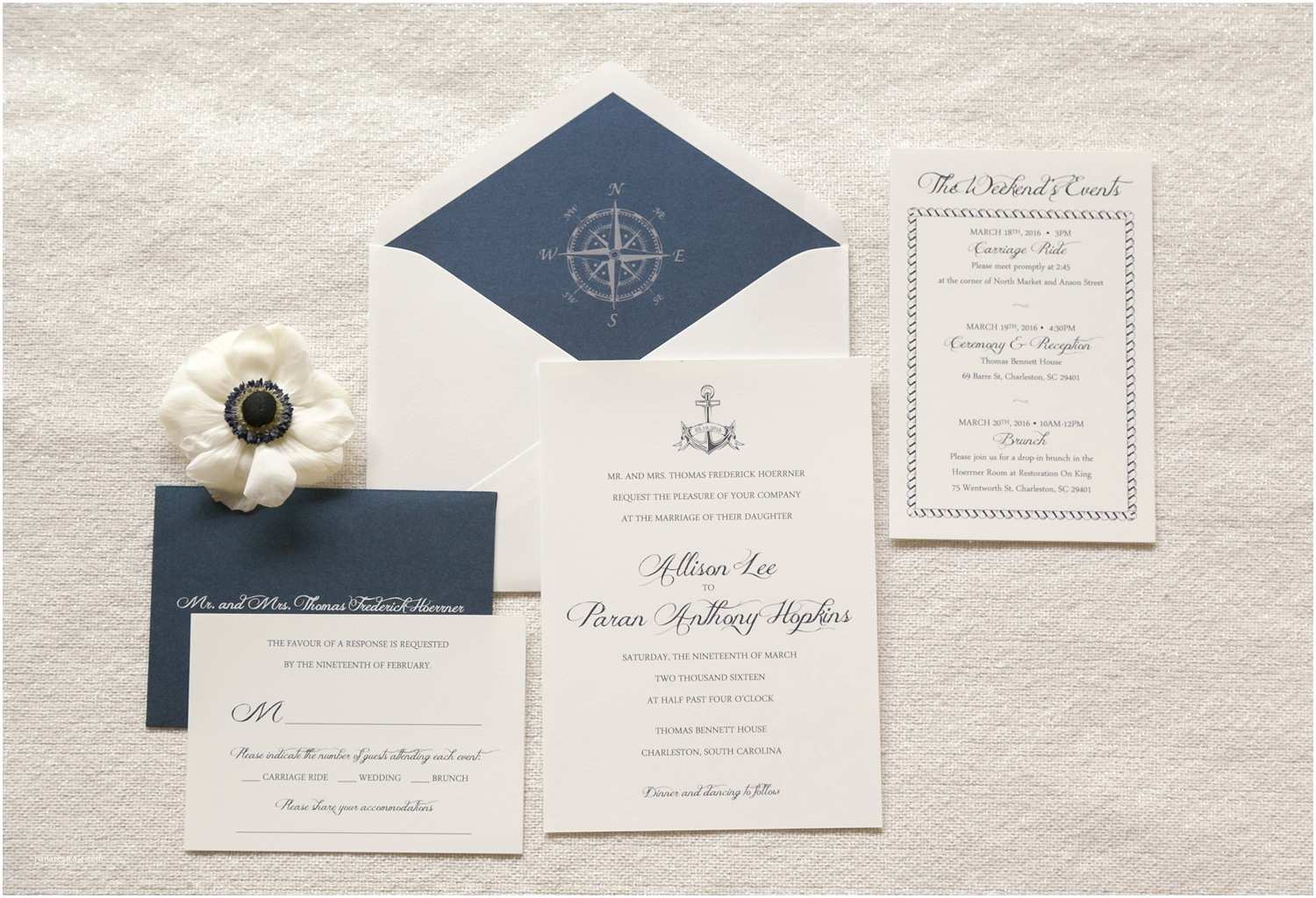 Nautical Wedding Invitations Nautical Wedding Invitation Anchor Invitation Pass