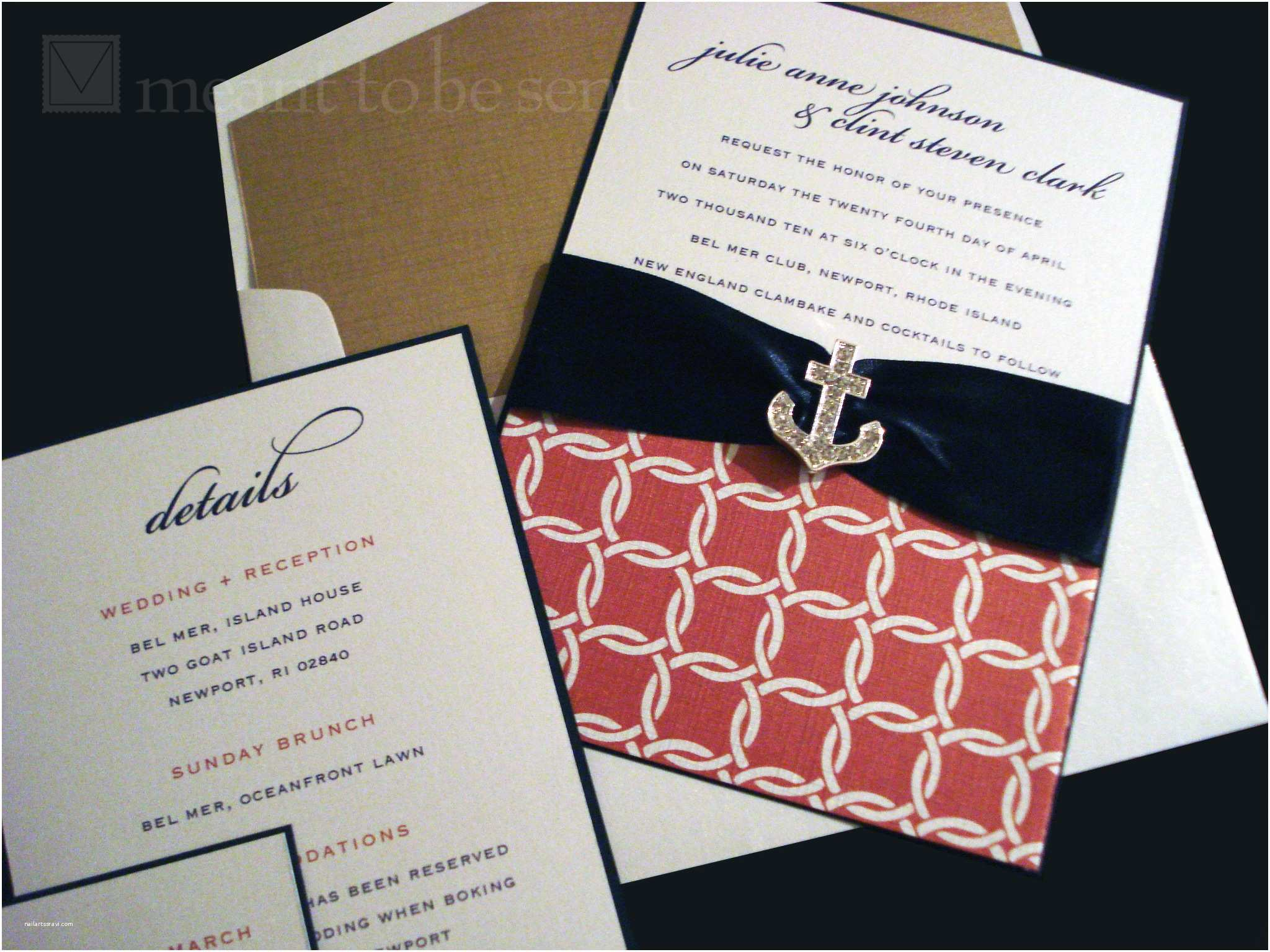 Nautical Wedding Invitations Nautical Wedding Invitation