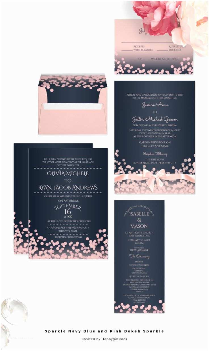 Navy and Blush Wedding Invitations 25 Best Ideas About Modern Wedding Invitations On