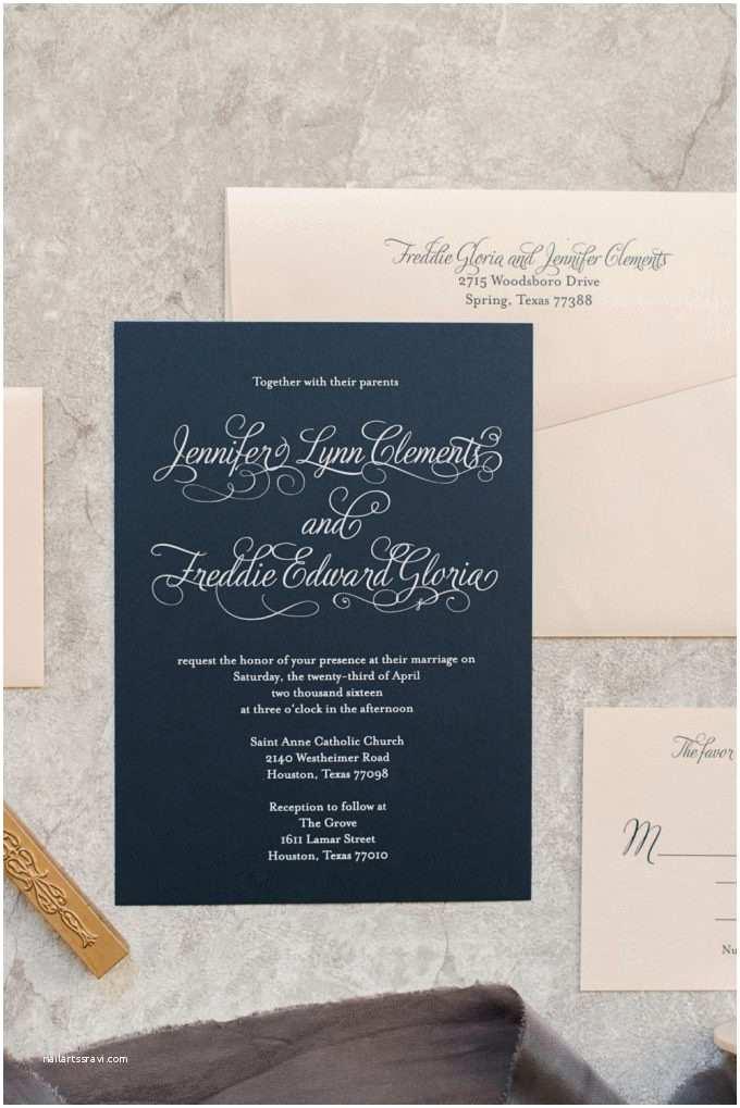 Navy and Blush Wedding Invitations Blush and Navy Wedding Invitations Wedding Colors