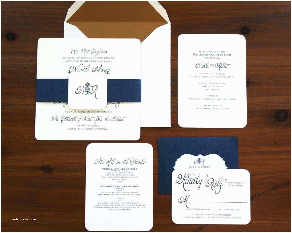 Navy and Blush Wedding Invitations Elegant Navy and Blush Wedding Invitations for Navy and