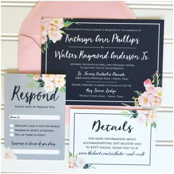 Navy and Blush Wedding Invitations What to Include In Wedding Programs
