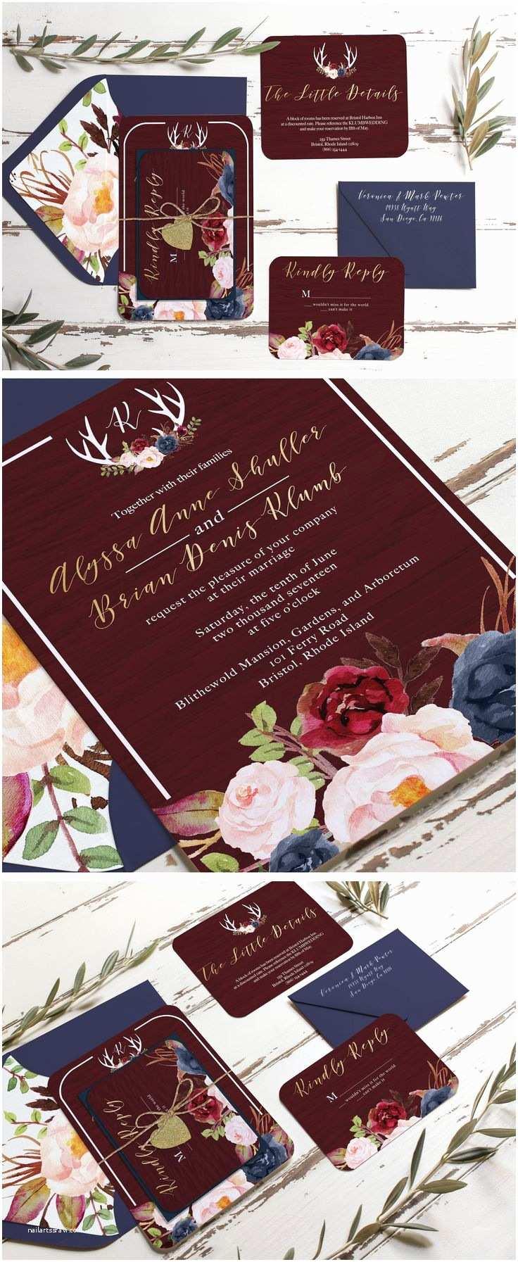 Navy and Burgundy Wedding Invitations Best 25 Navy Rustic Wedding Ideas On Pinterest