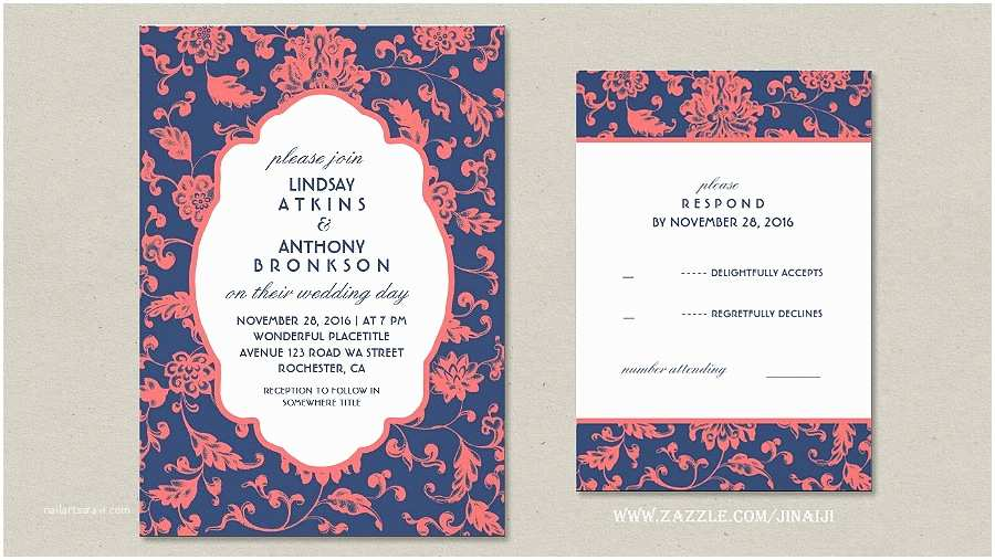 Navy and Coral Wedding Invitations Read More – Coral and Navy Wedding Invitations