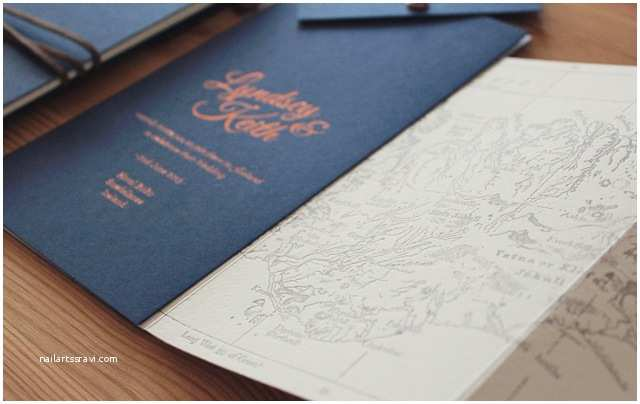 Navy and Gold Foil Wedding Invitations the Best Wedding Invitations Of 2015