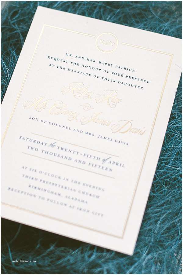Navy and Gold Foil Wedding Invitations Timeless Navy and Gold Foil Wedding Invitations