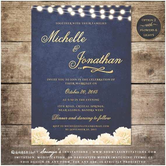 Navy and Gold Wedding Invitations Navy Blue and Gold Wedding Invitation Glitter Wedding