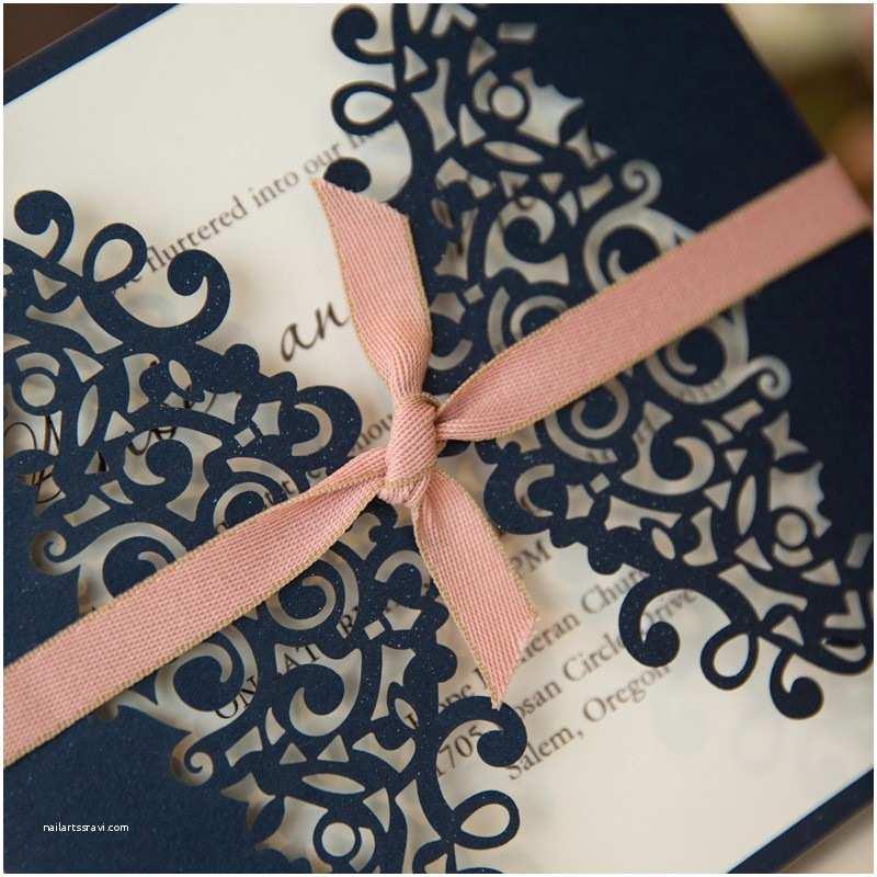 Navy Blue and Blush Wedding Invitations Best Navy and Pink Wedding Invitations Styles