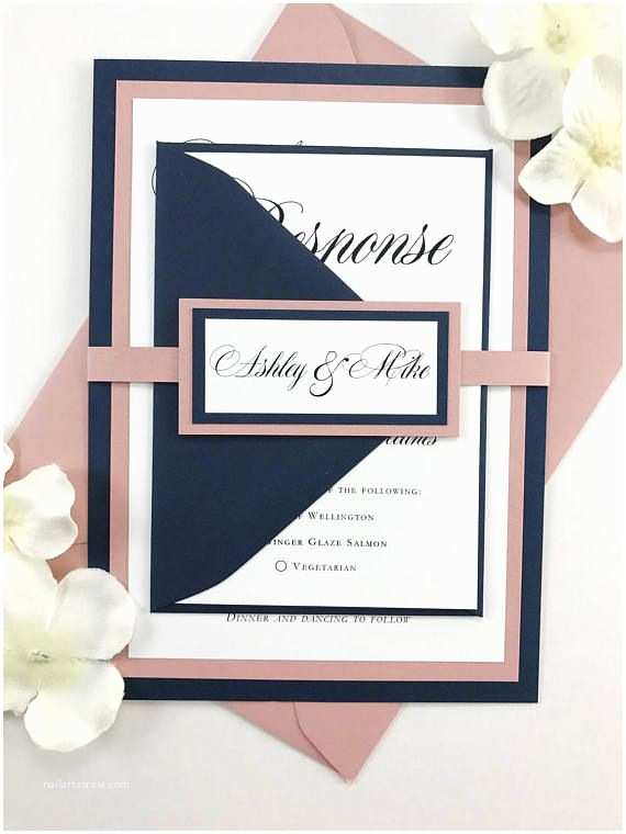 Navy Blue and Blush Wedding Invitations the 25 Best Navy Wedding Invitations Ideas On Pinterest