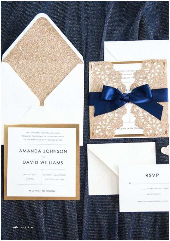 Navy Blue and Rose Gold Wedding Invitations 772 Best Images About Invitations & Stationery On Pinterest