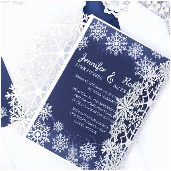 Navy Blue and Silver Wedding Invitations Elegant Grey Winter Wedding Invitations Ewi411 as Low as