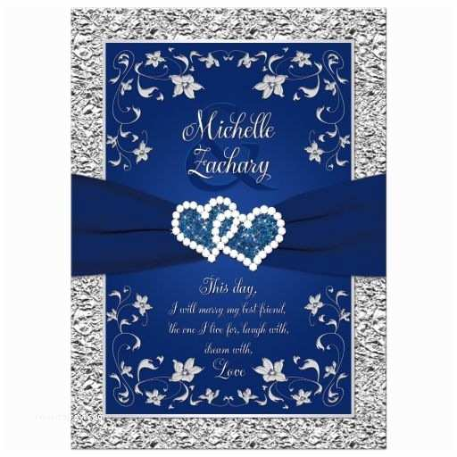 Navy Blue and Silver Wedding Invitations Navy Blue and Silver Wedding Invitation Set