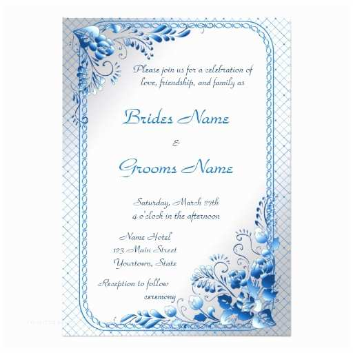 Navy Blue and Silver Wedding Invitations Navy Blue Wedding Invitation On Styled Silver