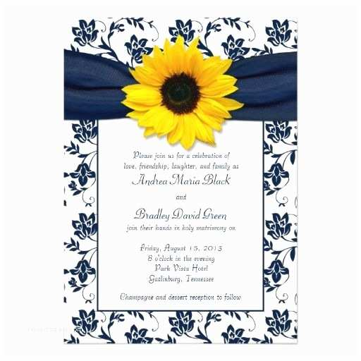 Navy Blue and Sunflower Wedding Invitations Best 25 Yellow Wedding Invitations Ideas On Pinterest