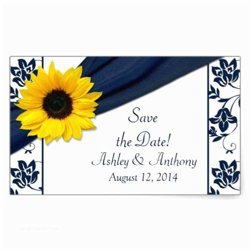 Navy Blue and Sunflower Wedding Invitations Navy Blue and Sunflower Wedding Invitations — Criolla