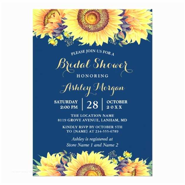 Navy Blue and Sunflower Wedding Invitations Rustic Sunflowers Navy Blue Invitation Suite