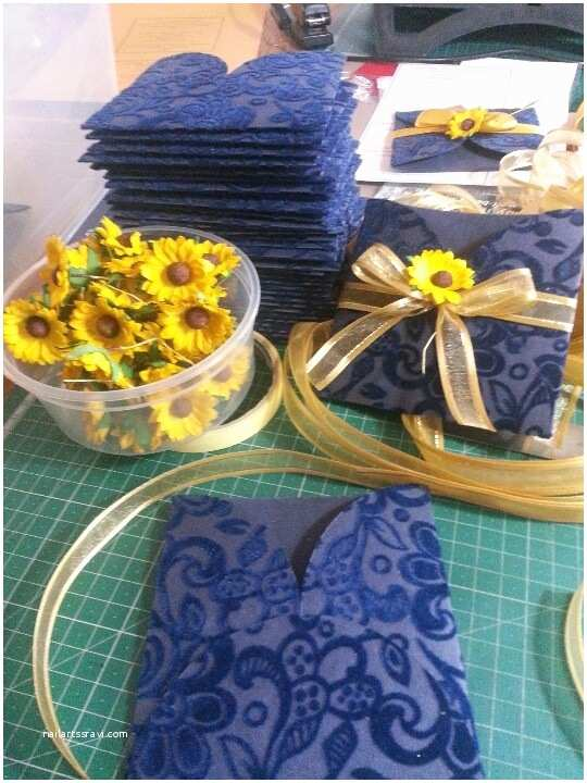 Navy Blue and Sunflower Wedding Invitations Sunflowers and Navy Blue Pockets