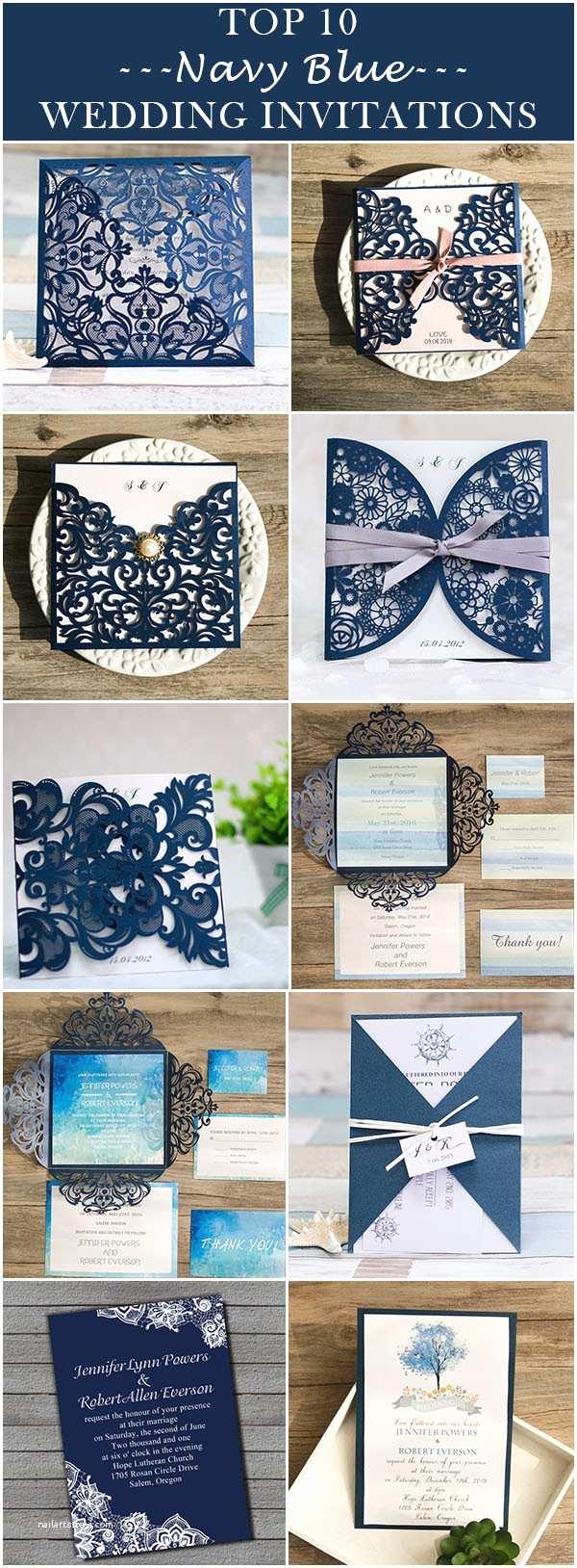 Navy Blue Wedding Invitations 10 Hottest Wedding Invitation Trends for 2016