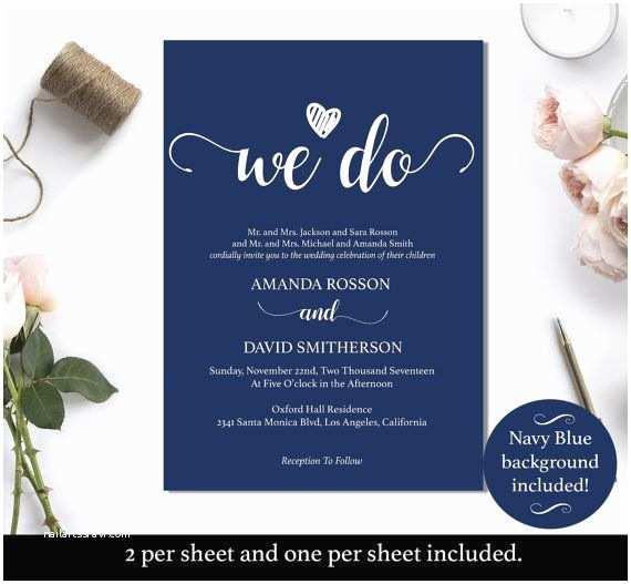 Navy Blue Wedding Invitations Kits 14 Best Navy Blue Weddding Ideas Images On Pinterest