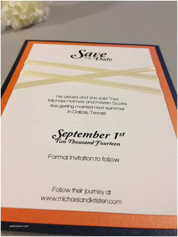 Navy Blue Wedding Invitations Kits 8 Best Navy Blue and orange Wedding Invitation Set Images