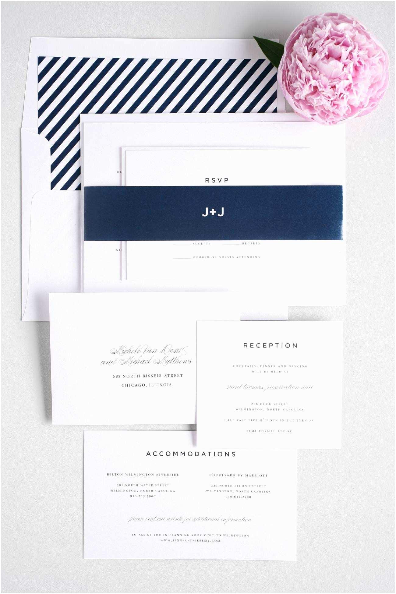 Navy Blue Wedding Invitations Kits Classic Urban Wedding Invitations In Navy – Wedding