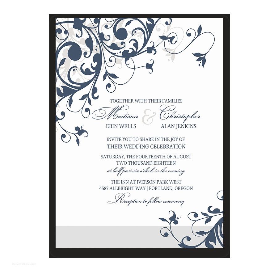 Navy Blue Wedding Invitations Kits Navy Blue Wedding Invitations to Pin On Pinterest