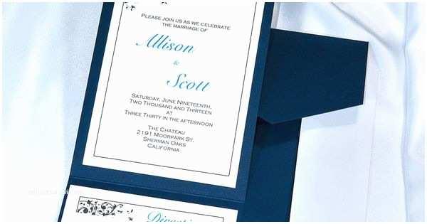 Navy Blue Wedding Invitations Kits Print Your Own Navy Blue Wedding Invitations with Our Diy
