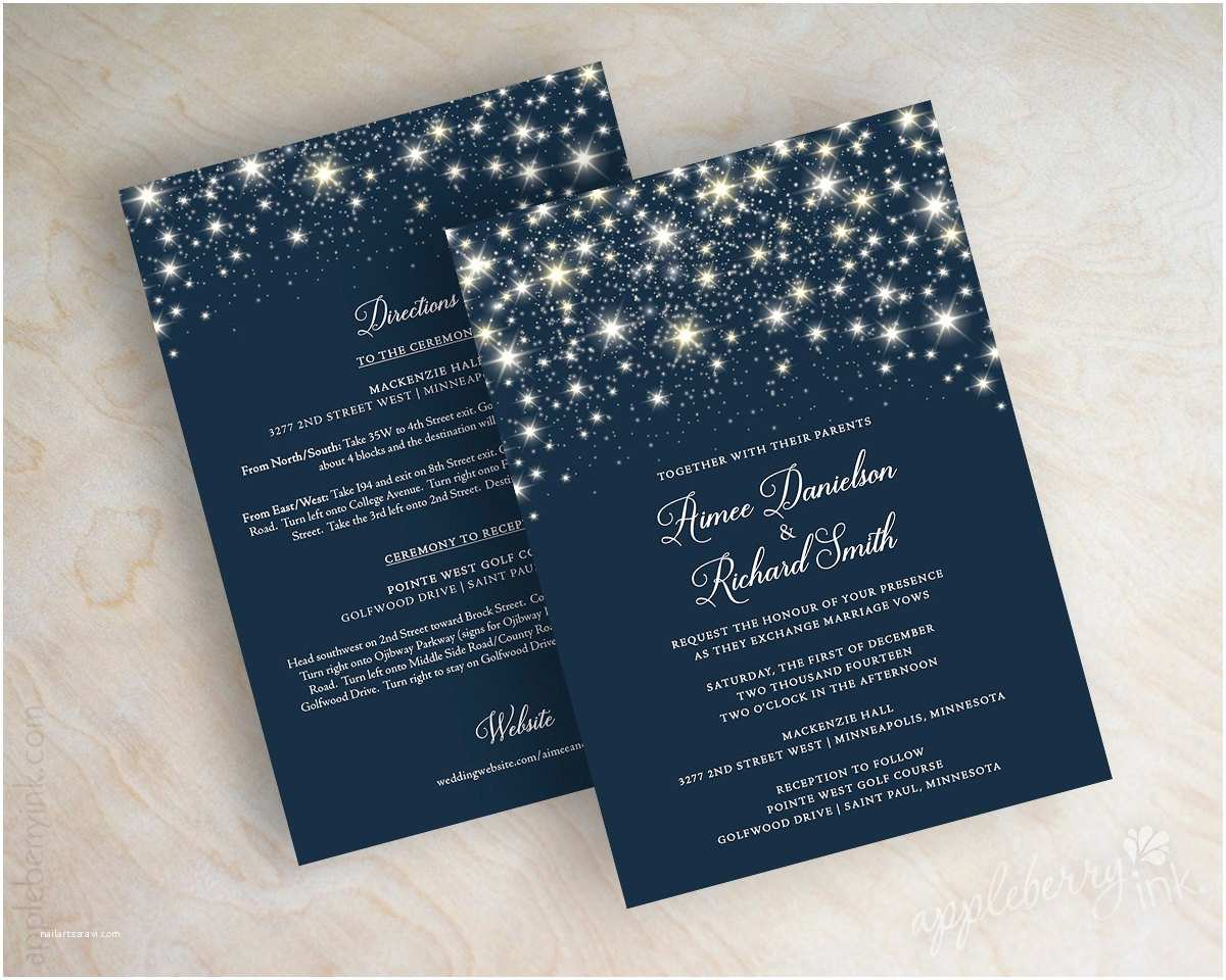 Navy Blue Wedding Invitations Star Wedding Invitations Navy Blue Wedding Invitations