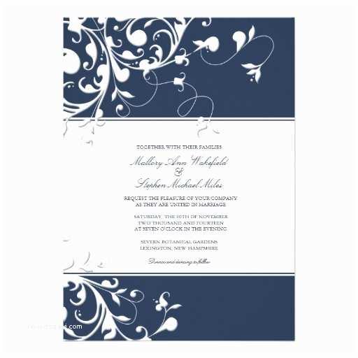 Navy Blue Wedding Invitations Wedding Invitation Wording Navy Wedding Invitation Templates