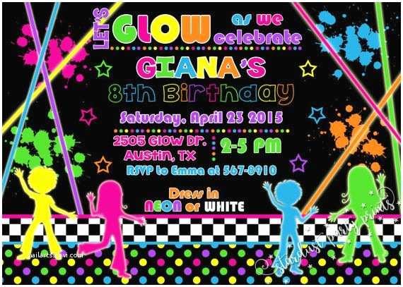 Neon Party Invitations 235 Best Fiesta Neon Images On Pinterest