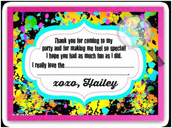 Neon Party Invitations Vip Ticket Neon Glow Birthday Party Invitation Vip Ticket