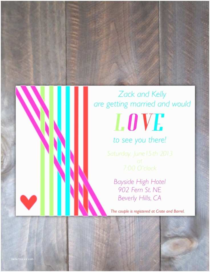 Neon Wedding Invitations 23 Best Images About Color Inspired Neon On Pinterest
