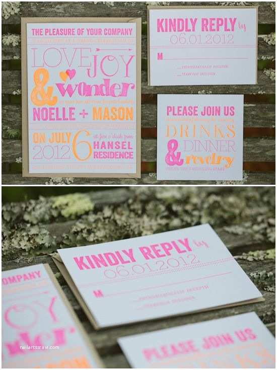 Neon Wedding Invitations 39 Best Pops Of Neon Images On Pinterest