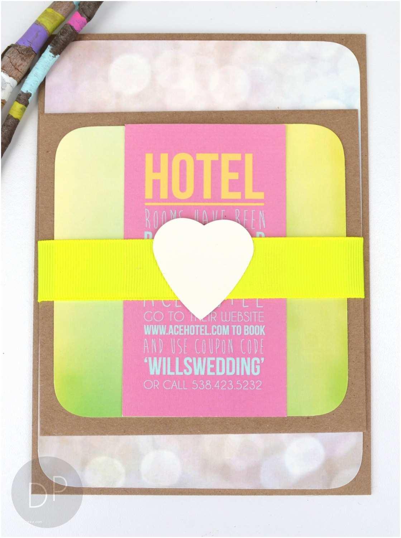 Neon Wedding Invitations Modern Neon Wedding Invitation Suite