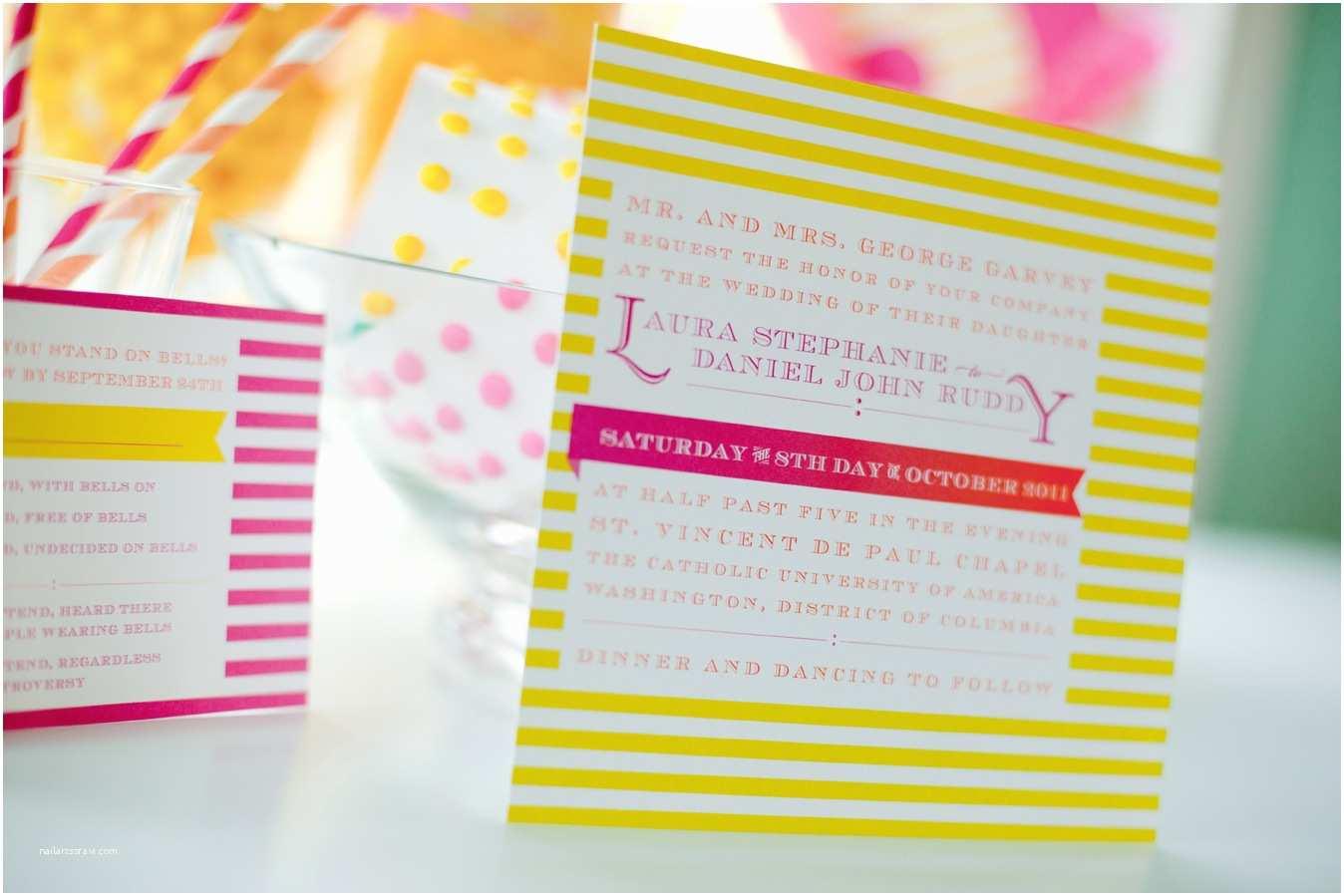 Neon Wedding Invitations Neon Colored Invitations Cake Ideas and Designs
