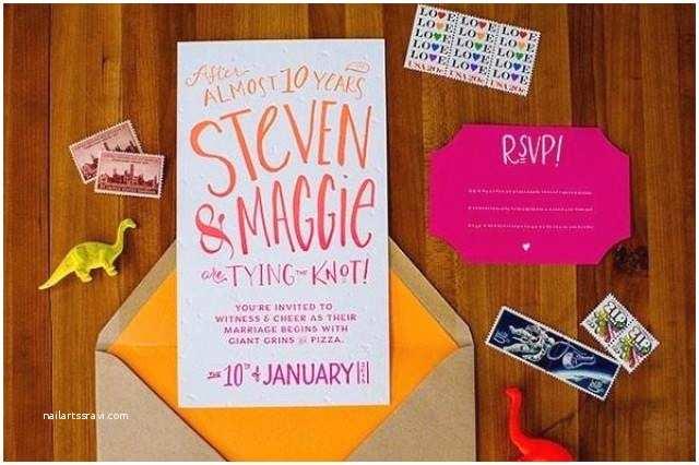 Neon Wedding Invitations Neon Wedding Invitations Weddbook