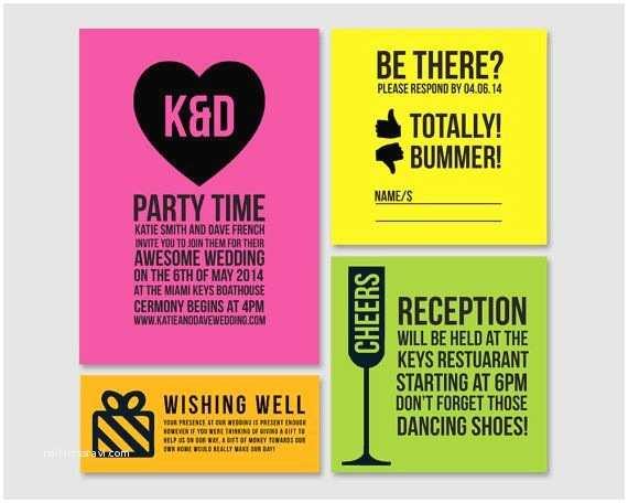 Neon Wedding Invitations Neon Wedding Neon Wedding Inspiration Weddbook
