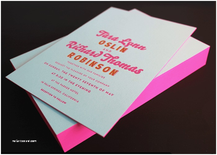 Neon Wedding Invitations Tara Rich S Colorful Palm Springs Wedding Invitations