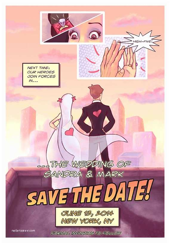 ic book style save the date